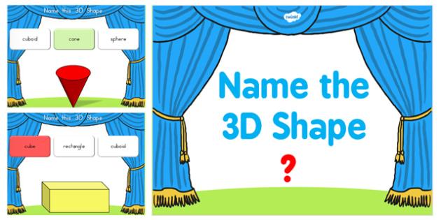 Name the 3D Shape Year 2 PowerPoint Quiz - australia, 3d, shape