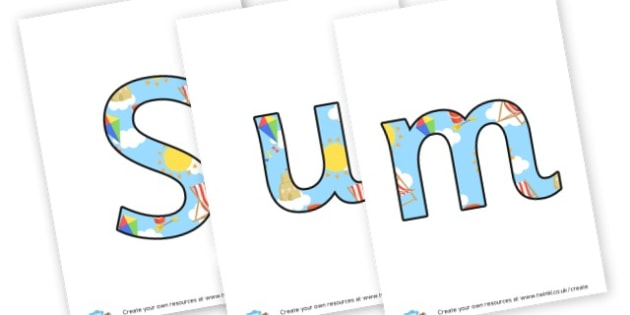 Summer 1 Display Lettering - display lettering - Summer Display  Primary Resources,Primary,Summer,Display,Posters