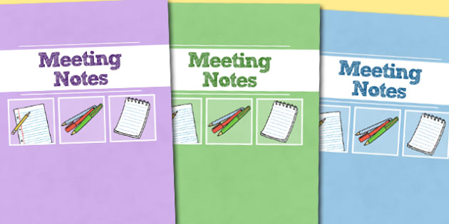A4 Meeting Notes Divider Covers-meeting notes, divider cover, A4 divider covers, themed divider covers, notes, meetings