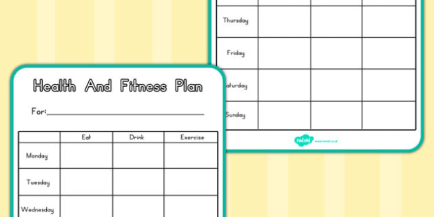 Gym Role Play Health And Fitness Plan (Australia) - plans, gyms