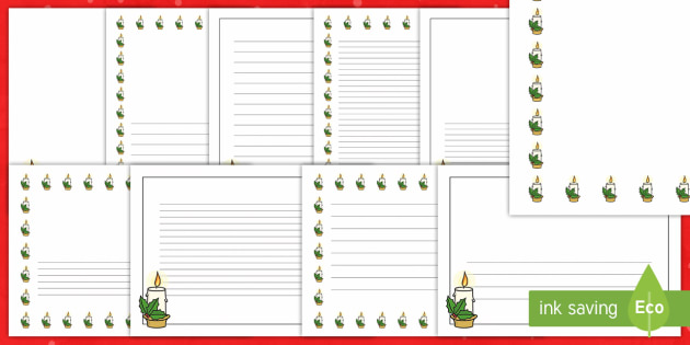Advent Themed Page Border Pack - advent, candle, writing, background, display, inspiration