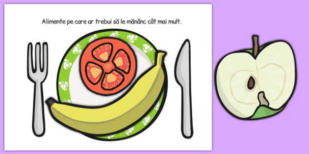 Alimentatie sanatoasa, Activitate de sortare - alimente, romana