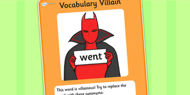 Vocabulary Villain Went Display Poster - went, vocabulary, vocabulary villian, display poster, poster for display, display, classroom display, keywords