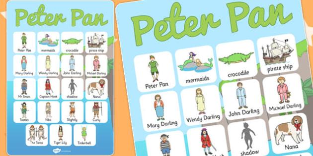Peter Pan Vocabulary Poster - posters, displays, display, tales