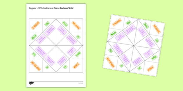 Regular IR Verbs Present Tense Fortune Teller - French