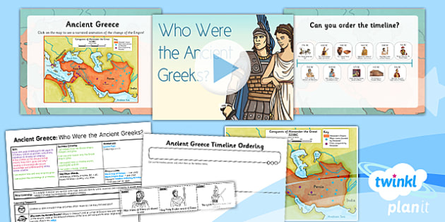 PlanIt - History KS2 - Ancient Greece Lesson 1: Who Were the Ancient Greeks? Lesson Pack