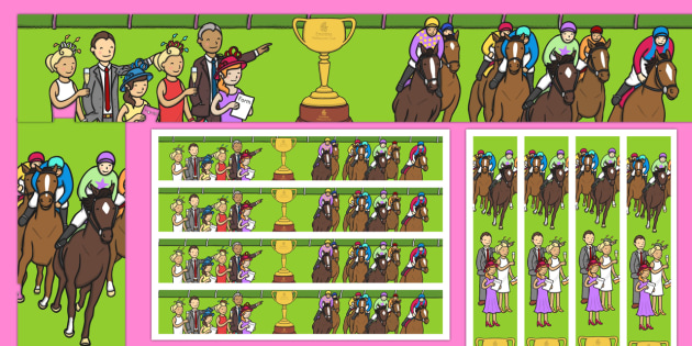 Melbourne Cup Display Border - australia, melbourne cup, horse racing