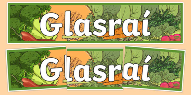 Bia Food Display Banner Glasrai - bia, food, irish, gaeilge, display, banners, food types