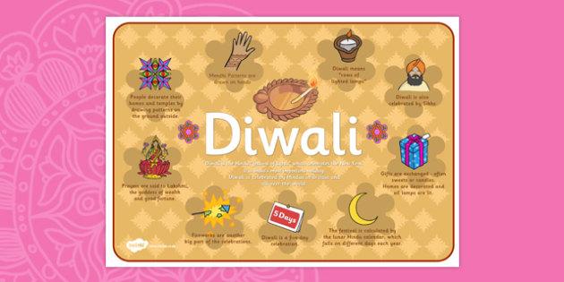 Diwali Large Information Poster KS1 - festivals, celebrations