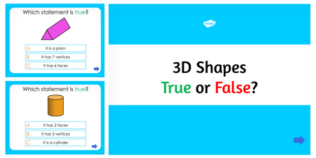 3D Shapes True or False PowerPoint Quiz - australia, 3d shapes