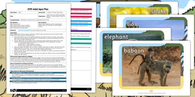 If I Were an Animal Safari Song EYFS Adult Input Plan and Resource Pack