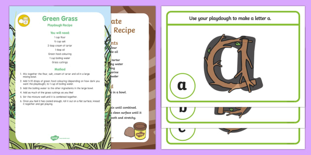 Playdough Recipe and Mat Pack to Support Teaching on Stick Man