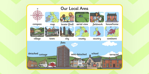 Our Local Area Display Poster A4 - local, area, display, poster