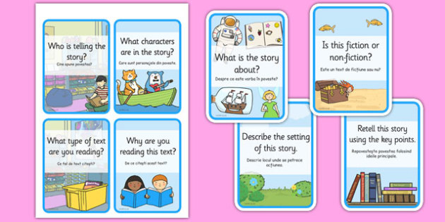Reading Comprehension Cards Romanian Translation - read, Romania