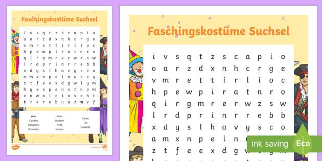 Faschingskostüme Suchsel - Fastnacht, Fasching, Karneval, Suchsel, Kostüm,German