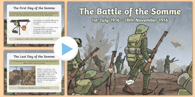 Battle of the Somme PowerPoint