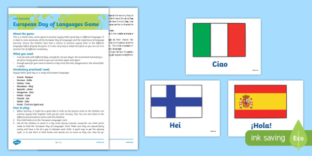 Greetings in Different Languages Game