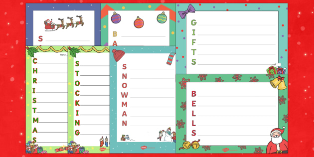 Christmas Acrostic Resource Pack