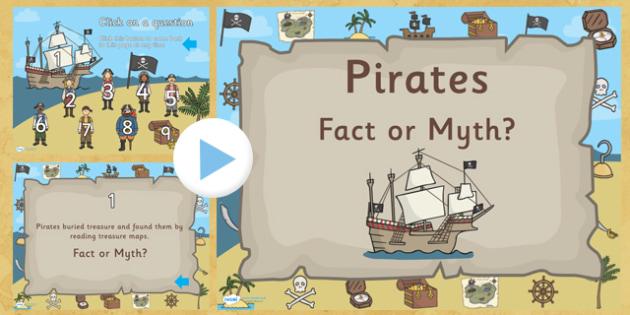 Pirate 'Fact or Myth?' Quiz Game - pirates, pirate powerpoint, pirate game, pirate quiz game, pirate fact or myth quiz, pirate fact or myth game