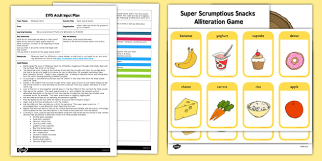 EYFS Super Space Snacks Adult Input Plan and Resource Pack to Support Teaching on Whatever Next!