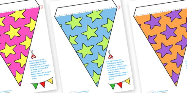Display Bunting (Stars) - Bunting, display bunting, classroom bunting, decorative bunting, royal wedding, classroom display