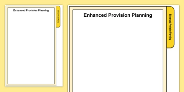 Foundation Phase Enhanced Provision Planning Tab A4 Display Poster-Welsh
