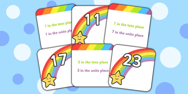 Place Value Matching Game Up to 100 - place value, matching, game