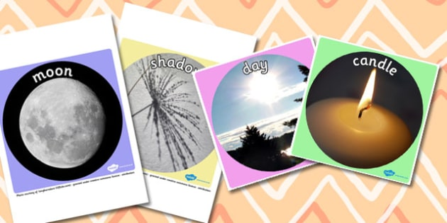 Light and Dark Display Photo Cut Outs - light, dark, photo, sun