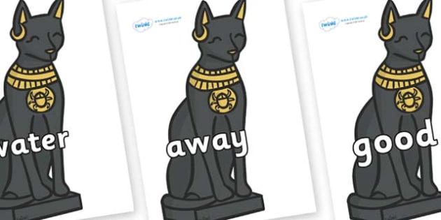 Next 200 Common Words on Egyptian Cats - Next 200 Common Words on  - DfES Letters and Sounds, Letters and Sounds, Letters and sounds words, Common words, 200 common words