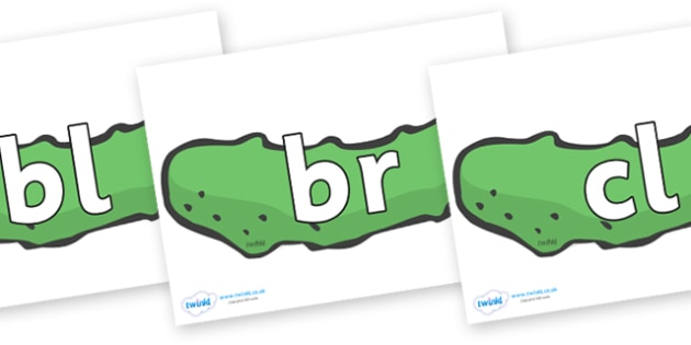 Initial Letter Blends on Pickles to Support Teaching on The Very Hungry Caterpillar - Initial Letters, initial letter, letter blend, letter blends, consonant, consonants, digraph, trigraph, literacy, alphabet, letters, foundation stage literacy