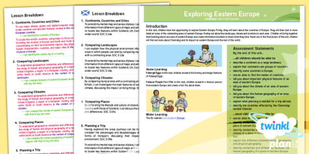 CfE Geography Year 5 Exploring Eastern Europe Overview