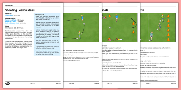 LKS2 Football Skills 3: Shooting Lesson Pack - football, PE, sport, exercise, KS2, LKS2, Key Stage 2,  year 3, year 4, skills, physical education, ball skills, team sports