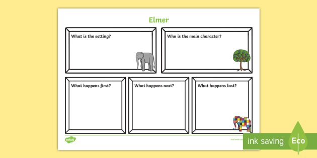 Book Review Writing Frame to Support Teaching on Elmer - elmer, elmer book review, elmer review, elmer review writing frame, elmer plot and character review, book review, review