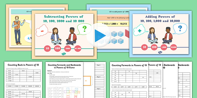 Year 5 Add and Subtract Powers of 10 Teaching Pack - subtraction