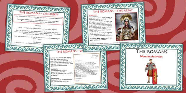 1 Week Romans Topic Morning Activities UKS2 - roman, activity