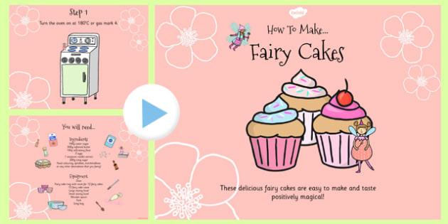 Fairy Cake Recipe PowerPoint - fairy cake, recipe, powerpoint