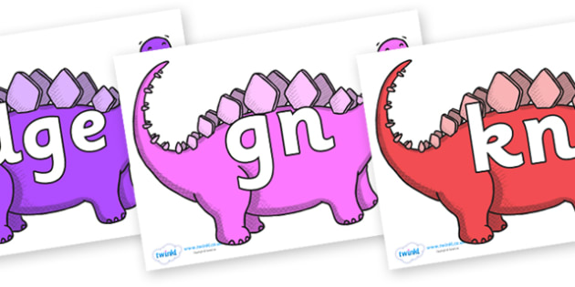 Silent Letters on Stegosaurus - Silent Letters, silent letter, letter blend, consonant, consonants, digraph, trigraph, A-Z letters, literacy, alphabet, letters, alternative sounds