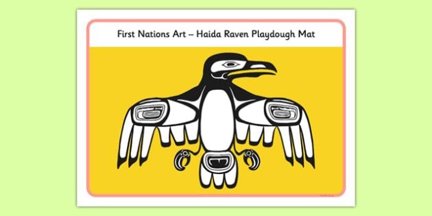 First Nations Art - Haida Raven Playdough Mat - first nations, art, first nations art, nation, haida raven, playdough, mat