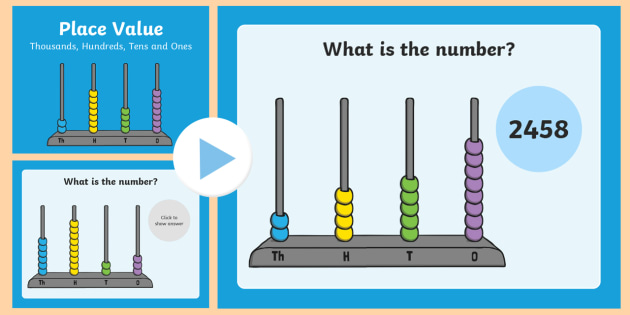 Place Value Abacus Activity PowerPoint Thousands, Hundreds, Tens and Ones - place value, abacus, activity, powerpoint, tens, ones, hundreds, thousandths