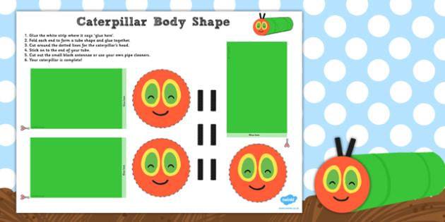 Caterpillar Body Shape Activity - shape, activity, caterpillar