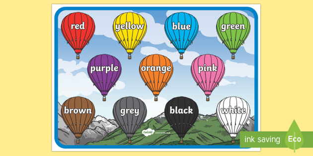 English Colours A4 Display Poster