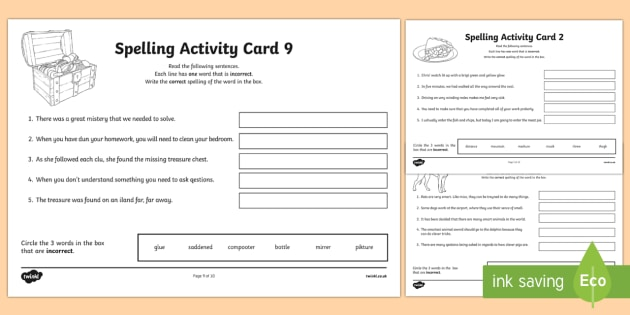 Australian Year 5 Spelling Mistakes Set One Activity Sheets-Australia