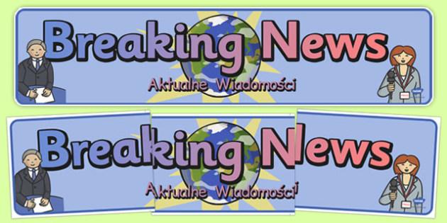 Breaking News Display Banner Polish Translation - polish, breaking, news, display banner, display, banner