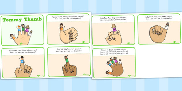 Tommy Thumb Story Sequencing Cards - tommy thumb, story sequencing