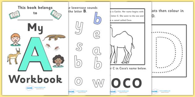 My Alphabet Workbook Pack (uppercase) - workbook, A-Z, alphabet, letters, my workbook, sounds, uppercase