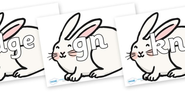 Silent Letters on Chinese New Year Rabbit - Silent Letters, silent letter, letter blend, consonant, consonants, digraph, trigraph, A-Z letters, literacy, alphabet, letters, alternative sounds