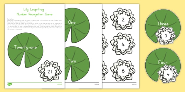 Lily Leap Frog Number Recognition Game - usa, america, Math, Physical Activity, Number Recognition, Kindergarten