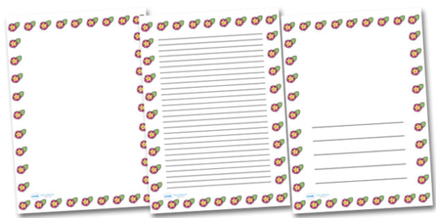 Spring Primrose Portrait Page Borders- Portrait Page Borders - Page border, border, writing template, writing aid, writing frame, a4 border, template, templates, landscape