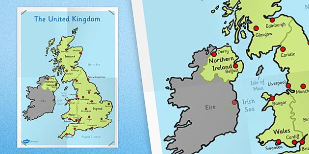 KS1 UK Map - ks1, uk, map, united kingdom, UK, kingdom, united