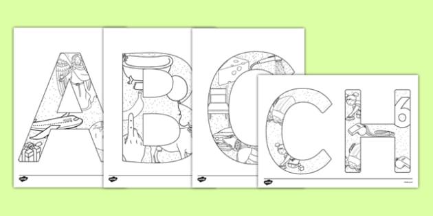 Uppercase Welsh Alphabet Themed Mindfulness Colouring Sheets - welsh, alphabet, colour, mindfulness, letters, walse, cymru
